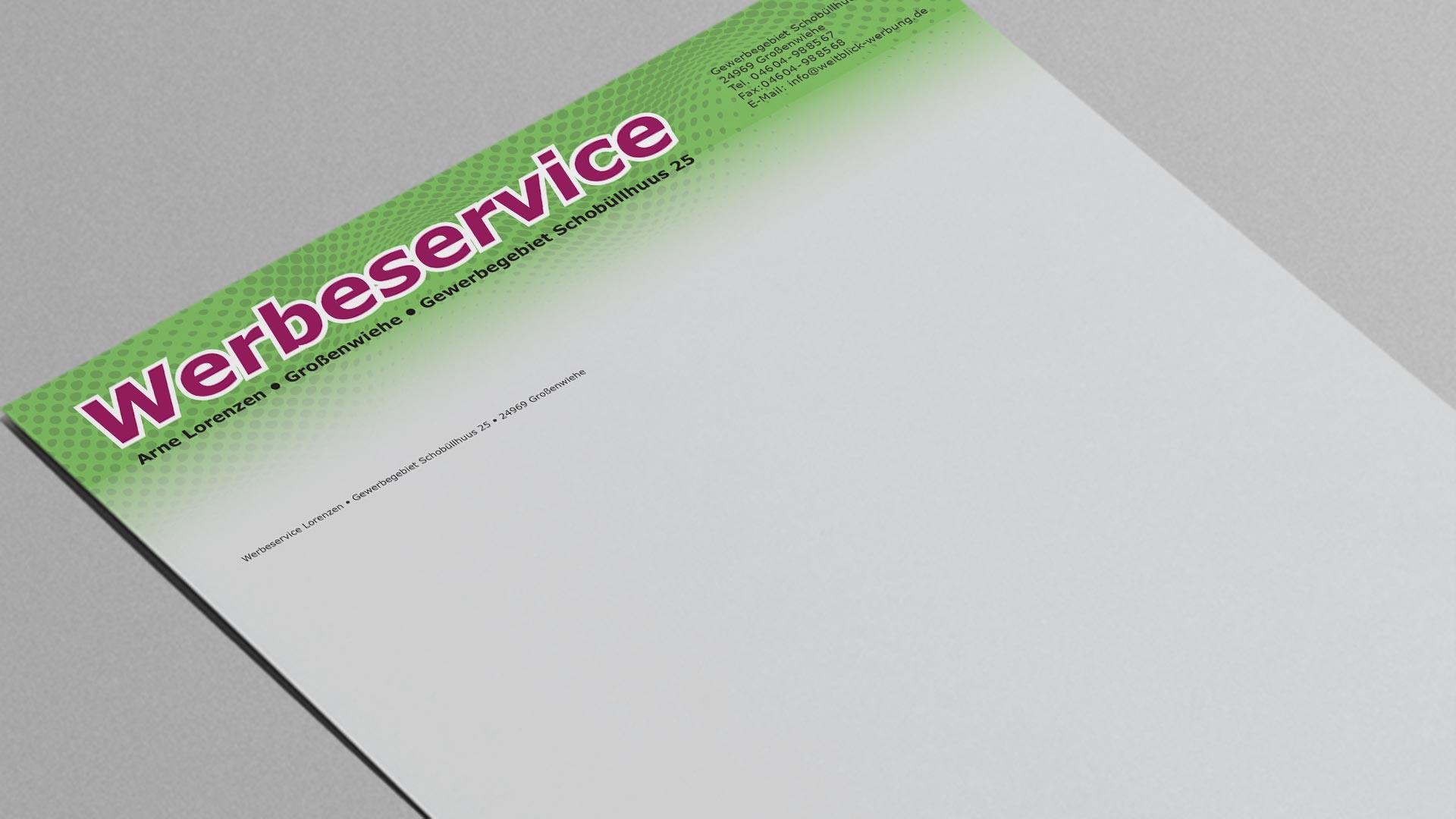 Briefpapier individuell bedruckt